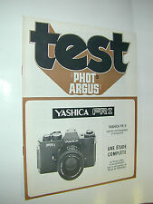 TEST PHOT ARGUS  yashica FR 1 et 2 en francais photo photographie