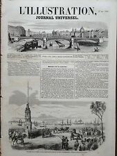L' ILLUSTRATION 1854 N 587 RECEPTION DU PRINCE NAPOLEON, A CONSTANTINOPLE