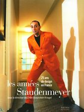 Staudenmeyer, 25 years of French design, French book