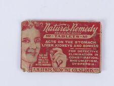 Nature's Remedy quack medicine A H Lewis St Louis MO tablets pouch vtg