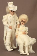 Hand Sculpted OOAK Ghost Couple - Very Posable