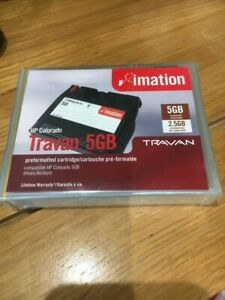 2 TRAVAN IMATION 5GB HP COLORADO formatted Cartridge 51122 12023 - SEALED