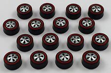 16 Brightvision Redline Wheels – 16 Medium US Dull Chrome Bearing Style Wheels