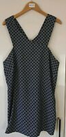 TU Women's Top Size 12 Blue Striking Shell Multi Print New with tags by GOK