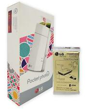 New LG Mobile Printer Pocket Photo with 10 Paper for iOS & Android Bluetooth