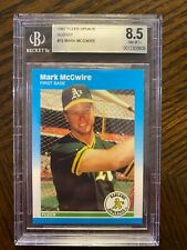 1987 Fleer Update Glossy #76 Mark McGwire RC BGS 8.5 NM-MT+~ Comp to PSA