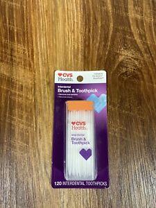 CVS Health Interdental Brush & Toothpick 120 Count Compare To Doctors Brushpicks