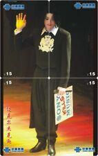 Michael Jackson 4 telefoonkaarten/télécartes  (MJ69 4p)