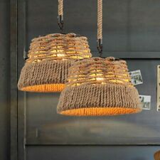 American Pendant Lamp Cafe Restaurant Bar Chandelier Hemp Rope Hanging Lamps