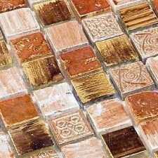 Glasmosaik Fliesen Mosaik Crossover Kupfer Braun Mix