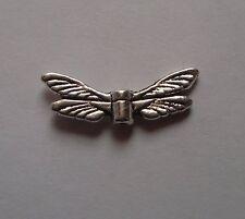 20 Tibetan Silver Dragonfly Wings 20mm Wide