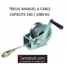 TREUIL MANUEL DE HALAGE 540/1080 Kg 4X4 REMORQUE QUAD BATEAU