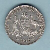Australia.  1912 Florin.. Part Lustre..  aEF