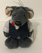 1987 The Rat Pack The Big Cheese Plush With Tag Office Suit Cigar Heartline