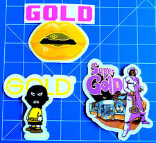 GOLD WHEELS STICKER PACK  #6 ****KIT OUT THE BEER FRIDGE!***