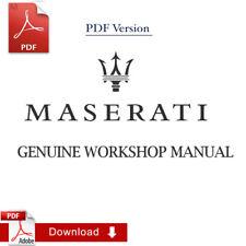 Factory Maserati GranCabrio/GranTurismo_C Sport 4.7 Workshop Manual
