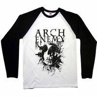Arch Enemy Skull Baseball Shirt S M L XL XXL Officl Long Sleeve Raglan Metal New