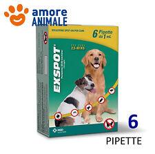 Exspot 6 pipette 1 ml per Cani da 2,5 a 40 kg - Antiparassitario per cane cani
