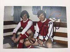 RARE Malcolm Macdonald Arsenal Signed Photo + COA AUTOGRAPH ENGLAND