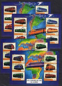 2x Guinea - Locomotives - Trains - 2 S/S - Briefmarken - Timbres - MNH** CB2