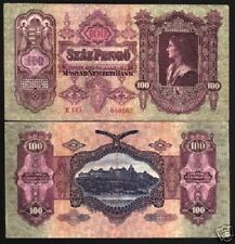 HUNGARY 100 Pengo 1930 P-98 EAGLE KING ROYAL PALACE HUNGARIAN EU MONEY BANK NOTE