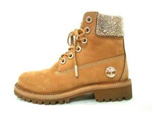 Auth JIMMY CHOO JC X TIMBERLAND/F LightBrown Nubuck Womens Boots US # 7