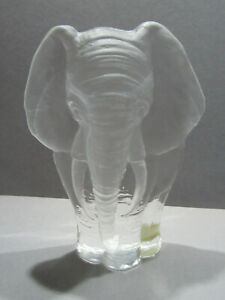 Mats Jonasson Schweden Bleikristall Elefant schwer Briefbeschwerer ca. 14cm Höhe