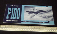 1950s Vintage North American Aviation USAF F-100 Super Sabre Giveaway Leaflet