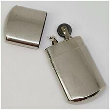 Briquet essence plat de poilus molette amovible-vintage-petrol Lighter-Feuerzeug