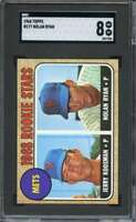 1968 TOPPS #177 NOLAN RYAN SGC 8 (RC) METS HOF CENTERED SHARP! *AK0199