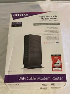 NETGEAR N600 Wireless-Wi-Fi 802.11n Cable Modem Router Black DOCSIS 3.0 Adapter