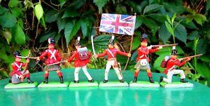Britains Deetail - Napoleonic Waterloo British Infantry - Full Set of 6