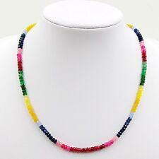 JEWELHAUS Smaragd Rubin Saphir Citrin Kette Halskette Collier Farbeverlauf neu