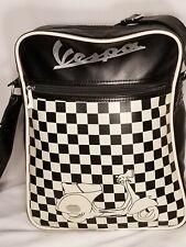 Genuine Piaggio Vespa Retro Black/Off White Shoulder/Man Crossbody Bag