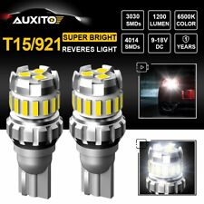 2X AUXITO White LED Bulb Car Backup Reverse Light 921 T15 W16W Bulbs Canbus Lamp