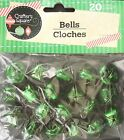 "JINGLE BELLS Christmas Crafts Red Gold Green Silver 1/2"" 9/16"" 3/4"" SELECT: Bell"