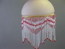 Pantalla de lámpara cristal 15 cm diámetro, 23cm de alto blanco