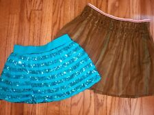Girls Pair Skirt Skort GAP JUSTICE Olive Green Blue Size 12