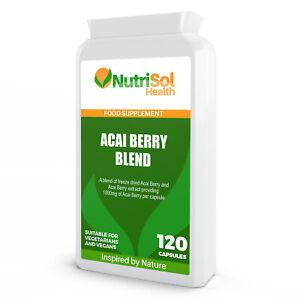 NutriSol Health Acai Berry Blend 1000mg per capsule Vegetarian & Vegan Friendly