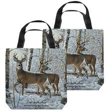 """""""Snowy Deer"""" Tote Bag - 4 sizes"""