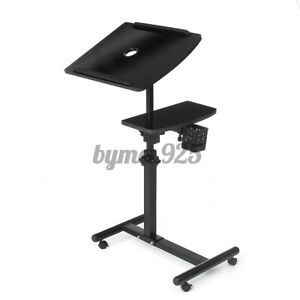 Rotatable Height Adjustable Mobile Laptop Table Stand Computer Desk Tray