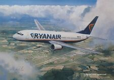 RYAN AIR RYANAIR BOEING 737-800 AIRLINER ART PRINT