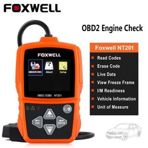 Foxwell NT201 Auto OBDII Code Reader Car Diagnostic Scanner Engine Light Check