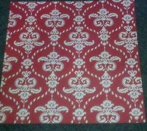 12x12 Paper - Lg Red/White Floral Damask - 3Pcs