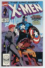 X-Men #268 Marvel Comics 1990 Wolverine Capt America Black Widow Team-up Lee art
