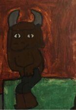 Minotaur Master watercolor mythology @lemonzone