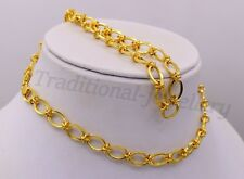 """22KARAT YELLOW GOLD VINTAGE TRADITIONAL STYLISH LINK CHAIN UNISEX NECKLACE 20"""""""