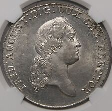 Saxony 1774 Friedrich August Silver Thaler NGC MS62