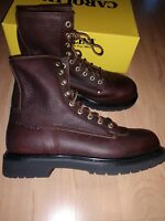 Work boots leather plain toe mens 11.5 D