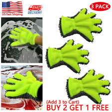 Car Washing Microfiber Chenille Finger Mitt Auto Home Dust Cleaning Wash Gloves